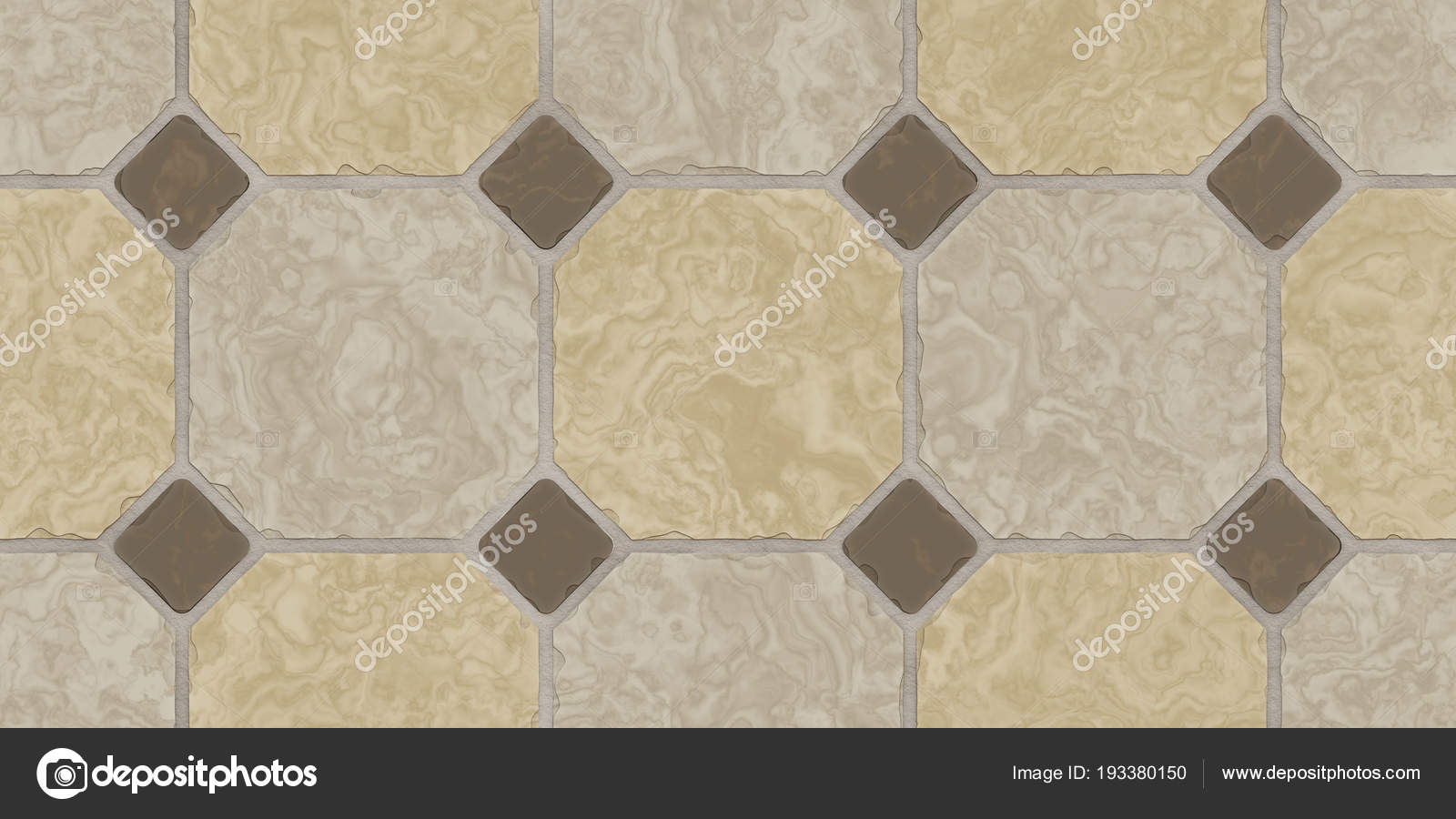 Beige Braun Nahtlose Klassische Fußboden Fliesen Textur. Einfache Küche,  Toilette Oder Bad Mosaikfliesen Hintergrund. 3D Rendering.