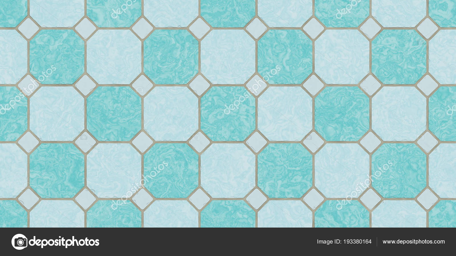 Deep Sea Blue Seamless Classic Floor Tile Texture. Simple Kitchen ...