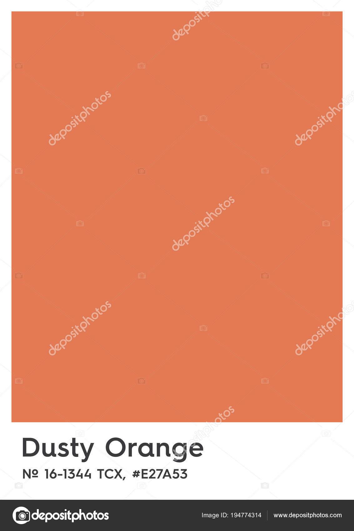 Пыльный оранжевый, 16-1344 Tcx, E27a53. Цвет удостоверения Иллюстрация–  Векторная картинка