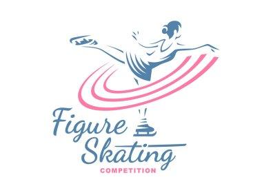 Figure Skating emblem illustration