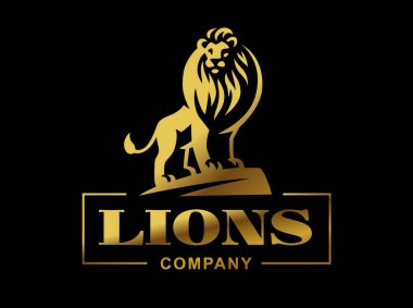 Lion logo - vector illustration, emblem design