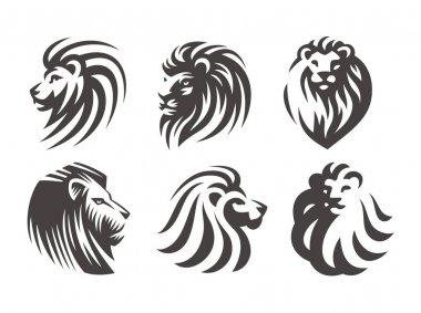 Lion head logo - vector illustration, emblem design