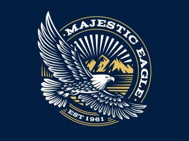 Eagle logo - vector illustration, emblem on dark background