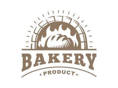 Bread logo - vector illustration. Bakery emblem on white background