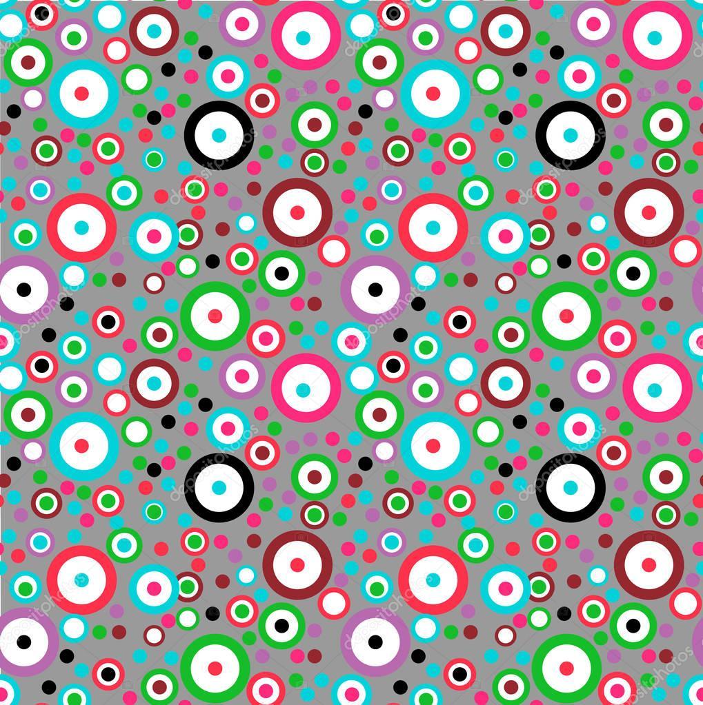 Célèbre Struttura senza giunte con i cerchi colorati e anelli su un fondo  WX56