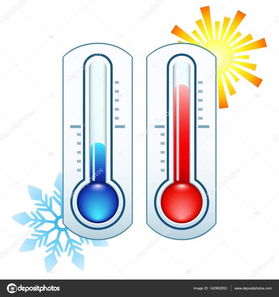 Thermometer-Symbol heißen und kalten Temperatur messen ...