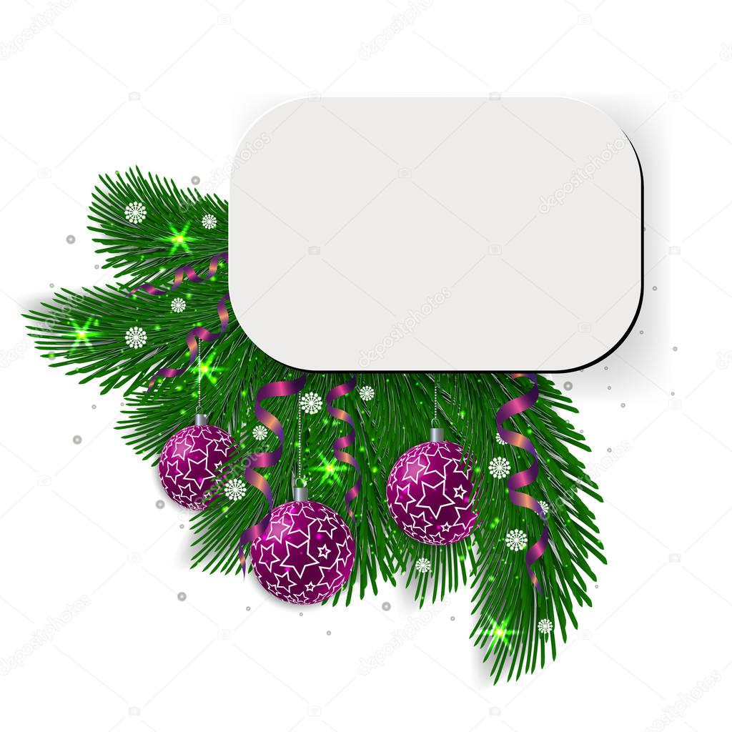 Christmas card, blank form, isolated on white background — Stock ...