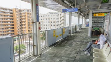 OKINAWA, JAPAN - April 19 , 2017: Yui monorail train station in Naha, Okinawa.