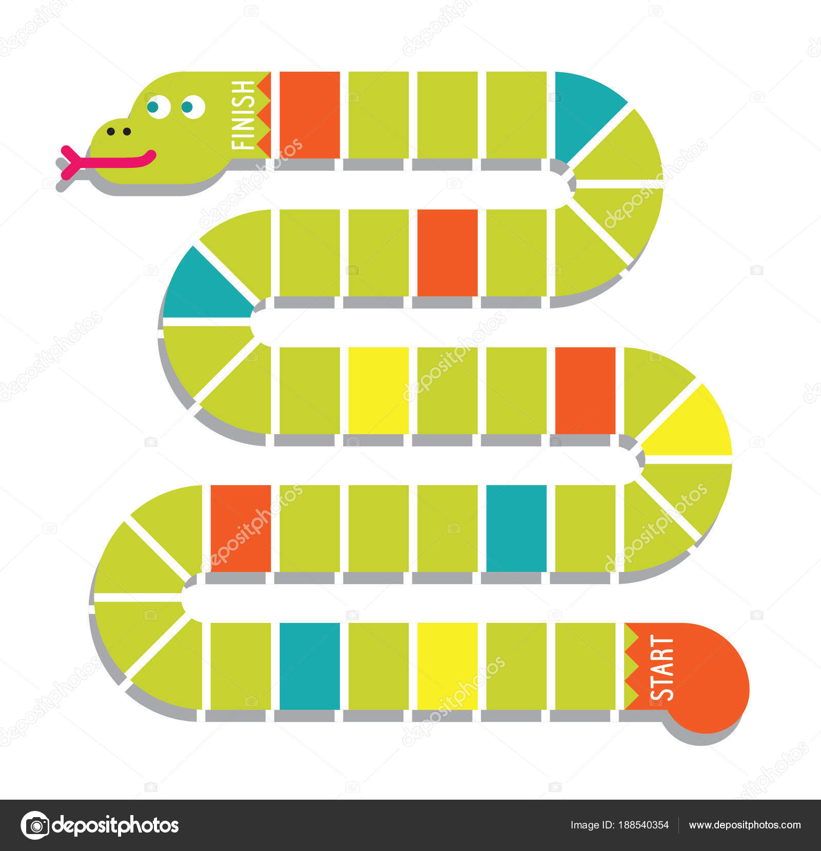 Snake Shaped Line Game Background Stock Vector C Bus109 188540354