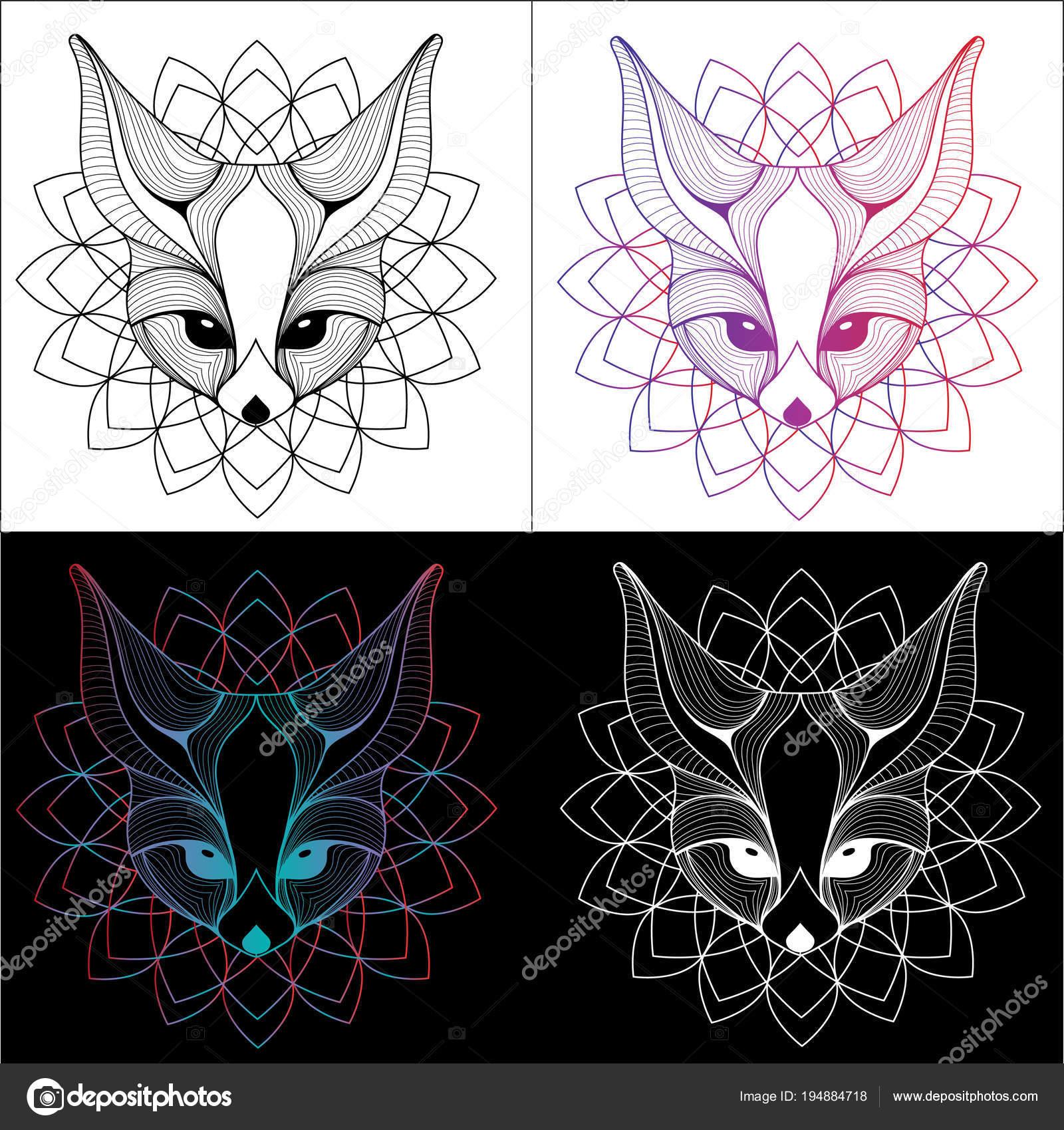 Conception De T Shirt Graphique Illustration Fennec Fox Et Tatouage