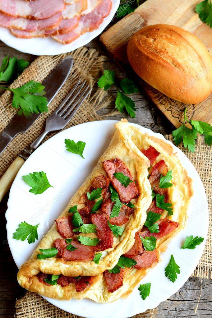 Omelett recept bacon