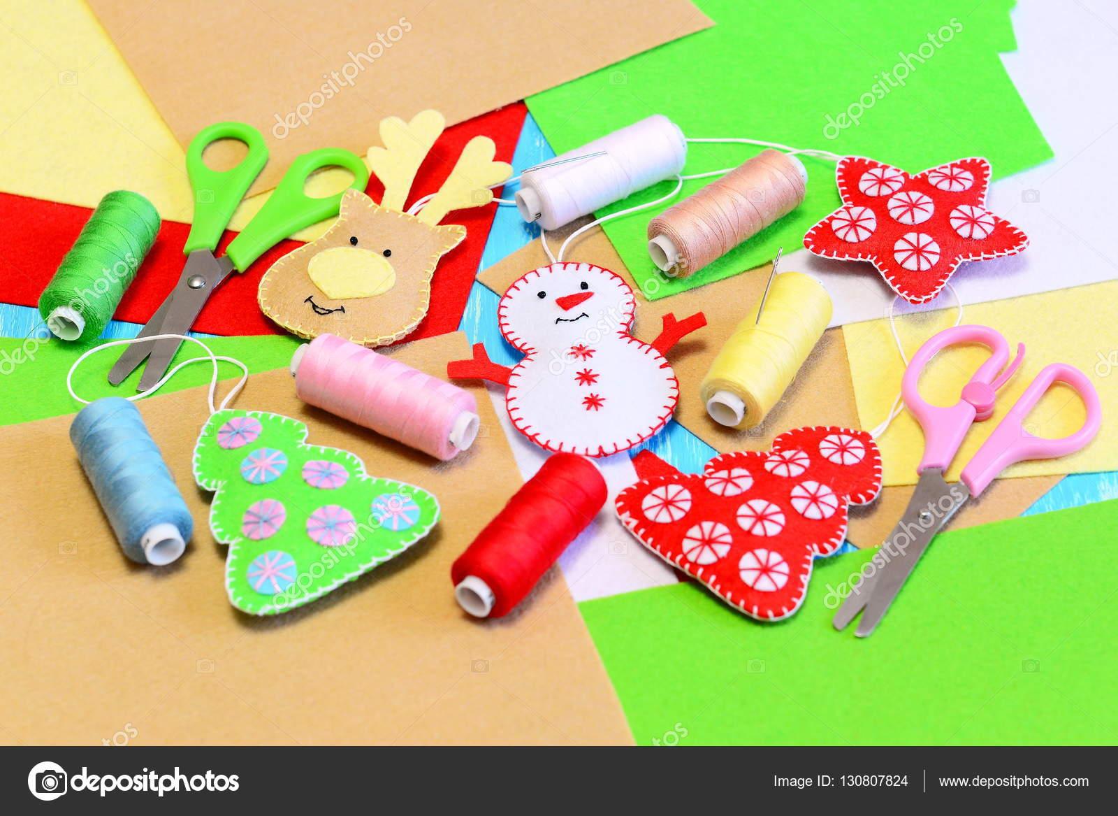 christmas tree ornaments diy felt christmas tree star snowman