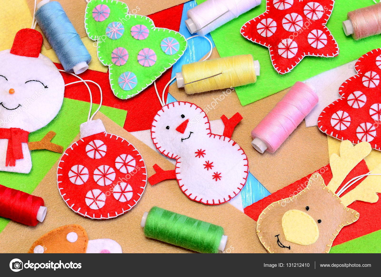 Produkt Grupy Ozdoby świąteczne Kolorowe Czuł Bałwana