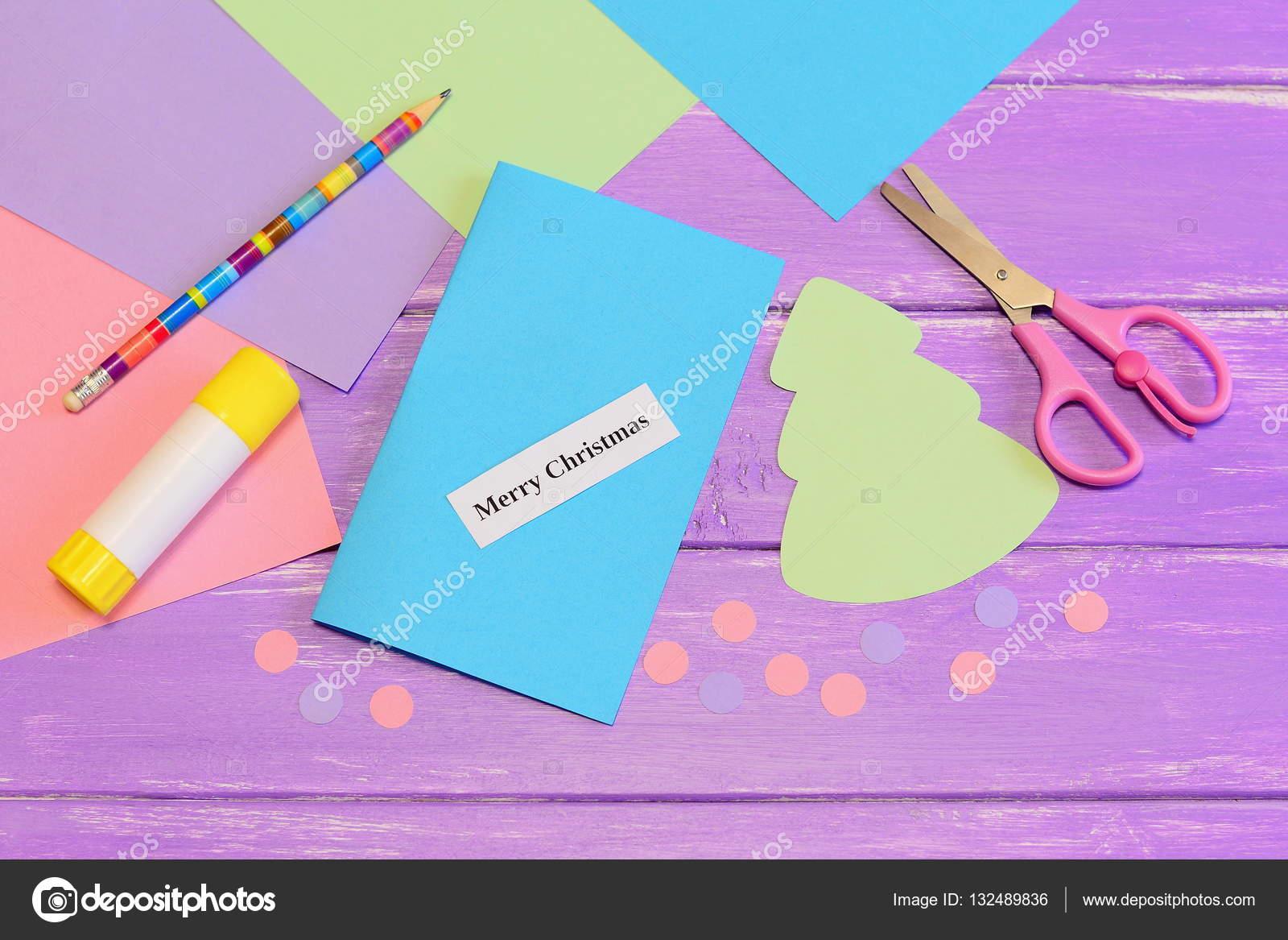 Cómo crear simple tarjeta de Navidad manualidades para niños ...