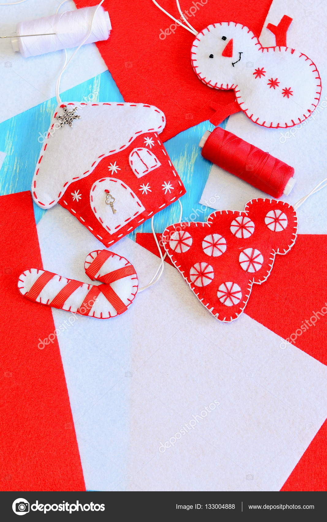 Cute Christmas Tree Ornaments Felt House Christmas Tree Candy
