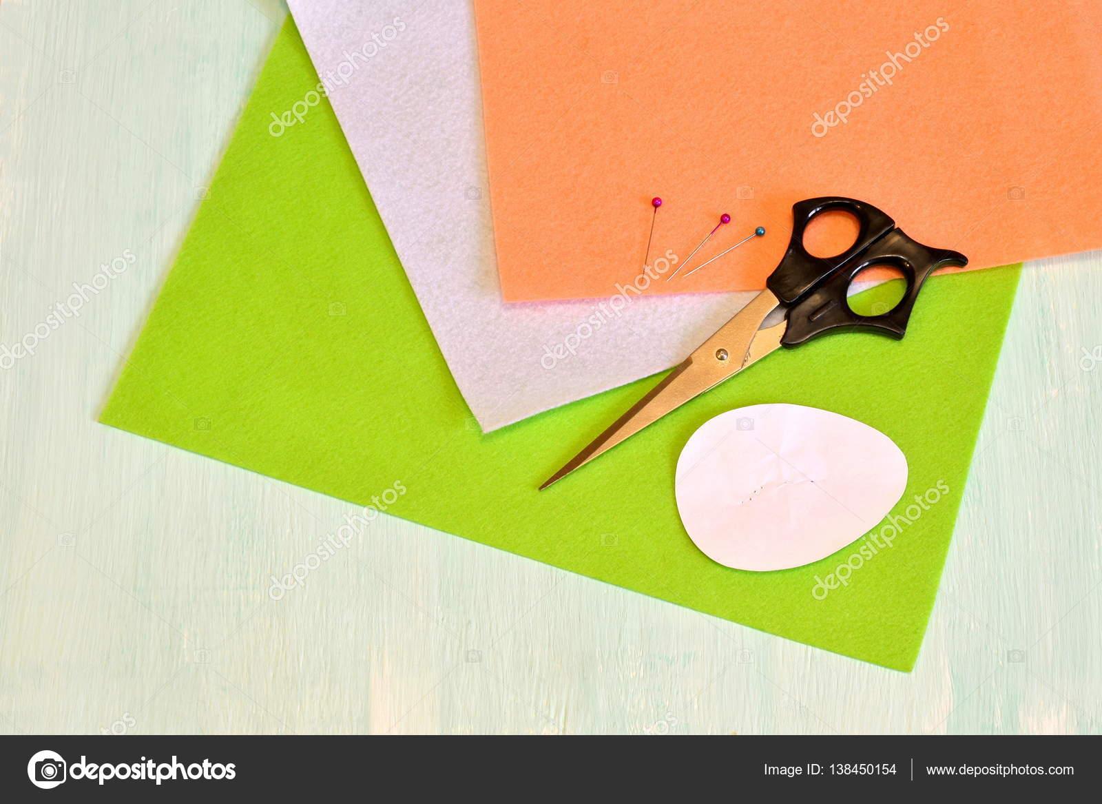 Schere Filz Stifte Papier Vorlagen Nähen Set Ostern Ei