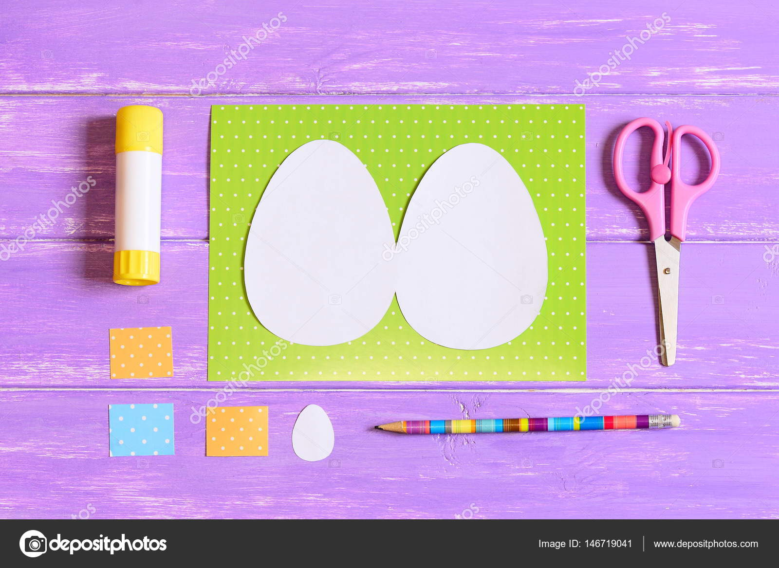 How to make Easter egg greeting card. Step. Tutorial. Colored ...