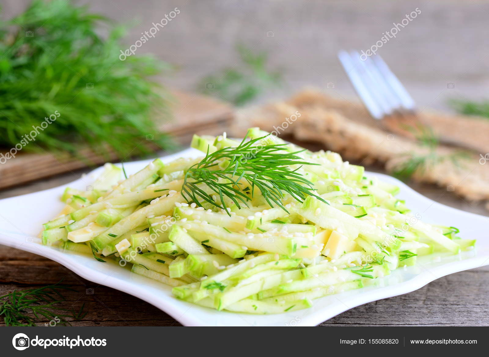 Salade De Courgettes Salade Avec Des Tranches De Courgettes
