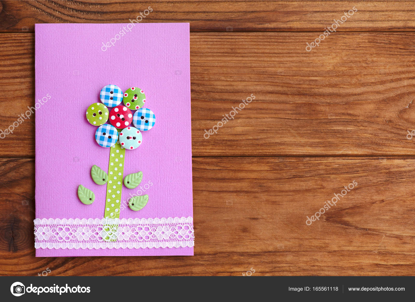 Happy Mothers Day Or Birthday Greeting Card With Flower Isolated On