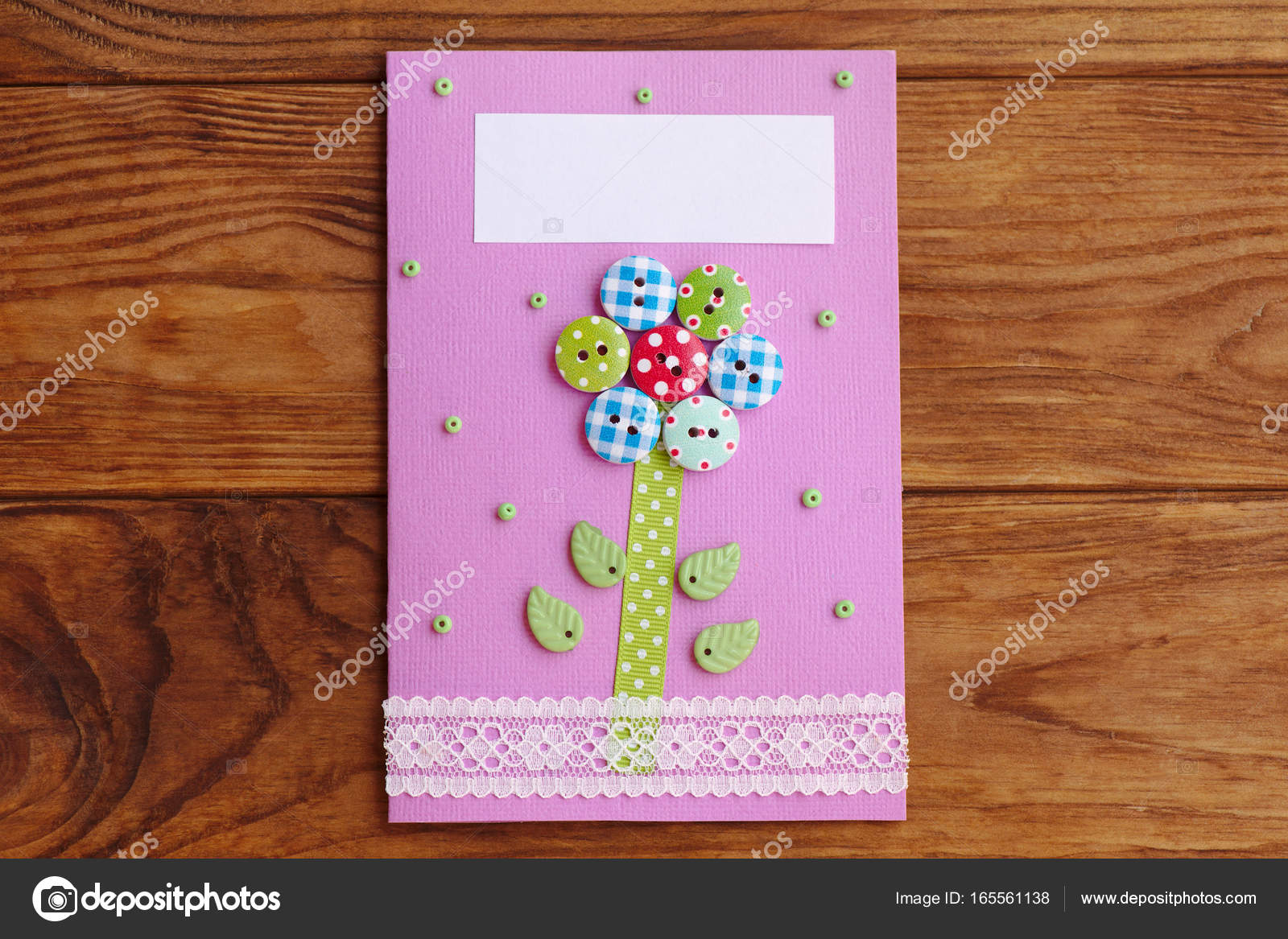 Mothers Day Or Mom Birthday Greeting Card With Flower Isolated On A
