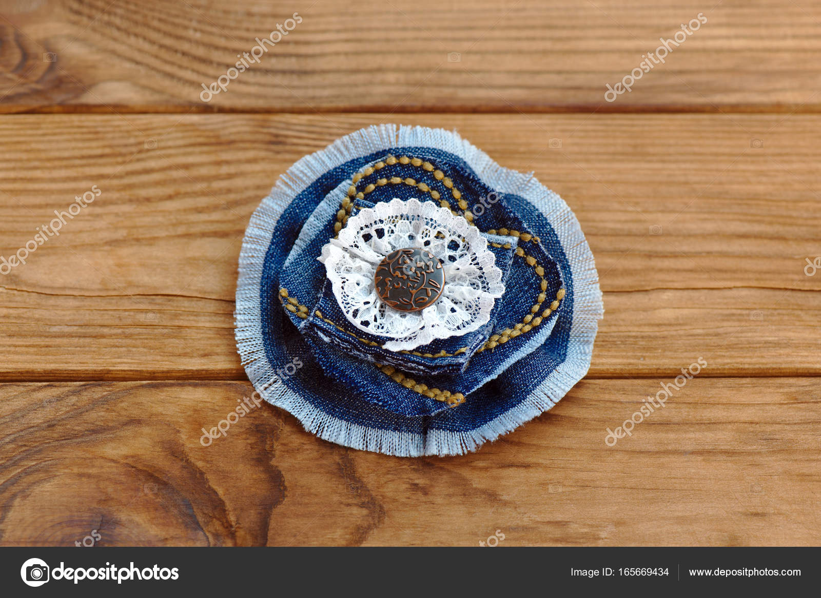 How To Recycle Old Jeans Into A New Jewelry Beautiful Handmade Flower Made From Recycled Materials Cheap Craft Idea For Adults