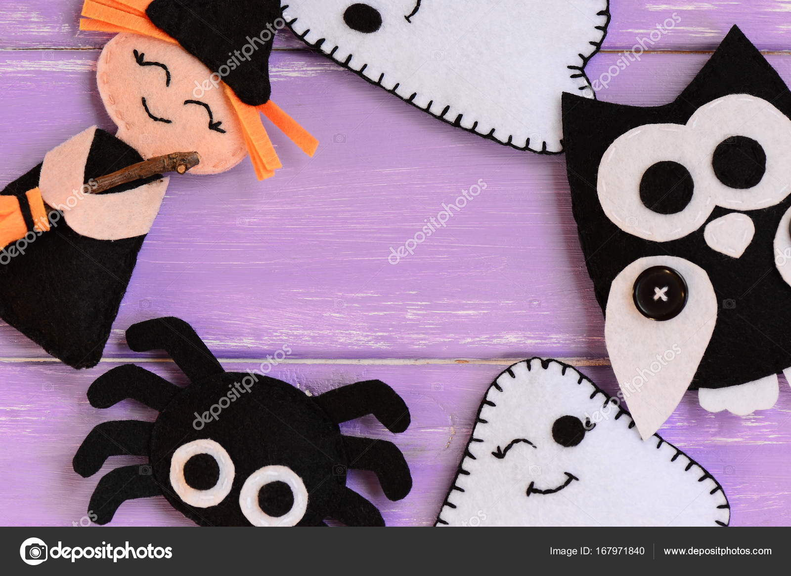 Quick Halloween Crafts Felt Witch Ghosts Owl Spider