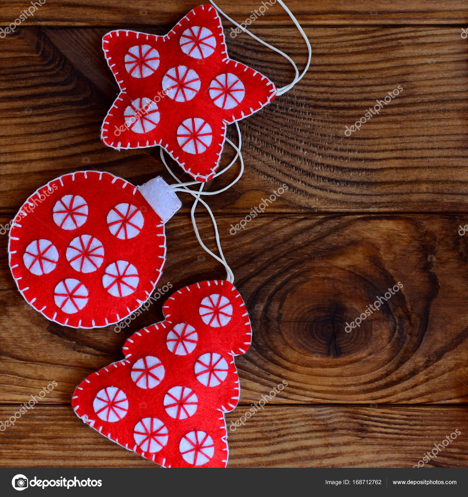 Homemade christmas crafts made from red and white felt for Sell handmade crafts online free