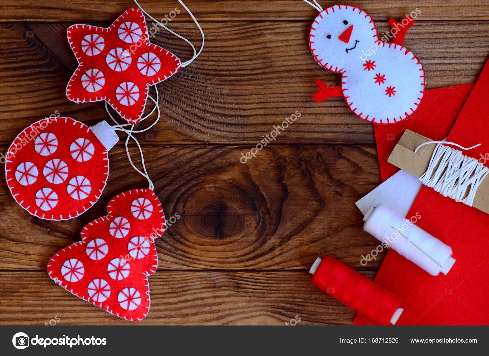 Weihnachten basteln zu Hause machen. Filz Sterne, Weihnachtsbaum ...