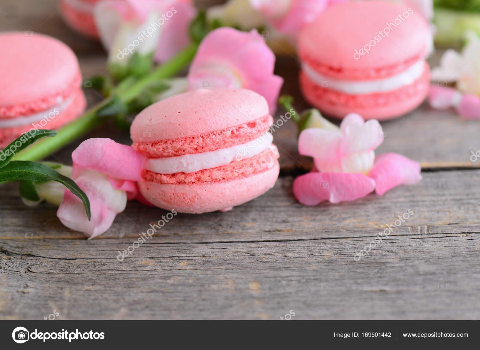 Beliebte Franzosische Kuchen Macarons Leichte Rosa Macarons Und