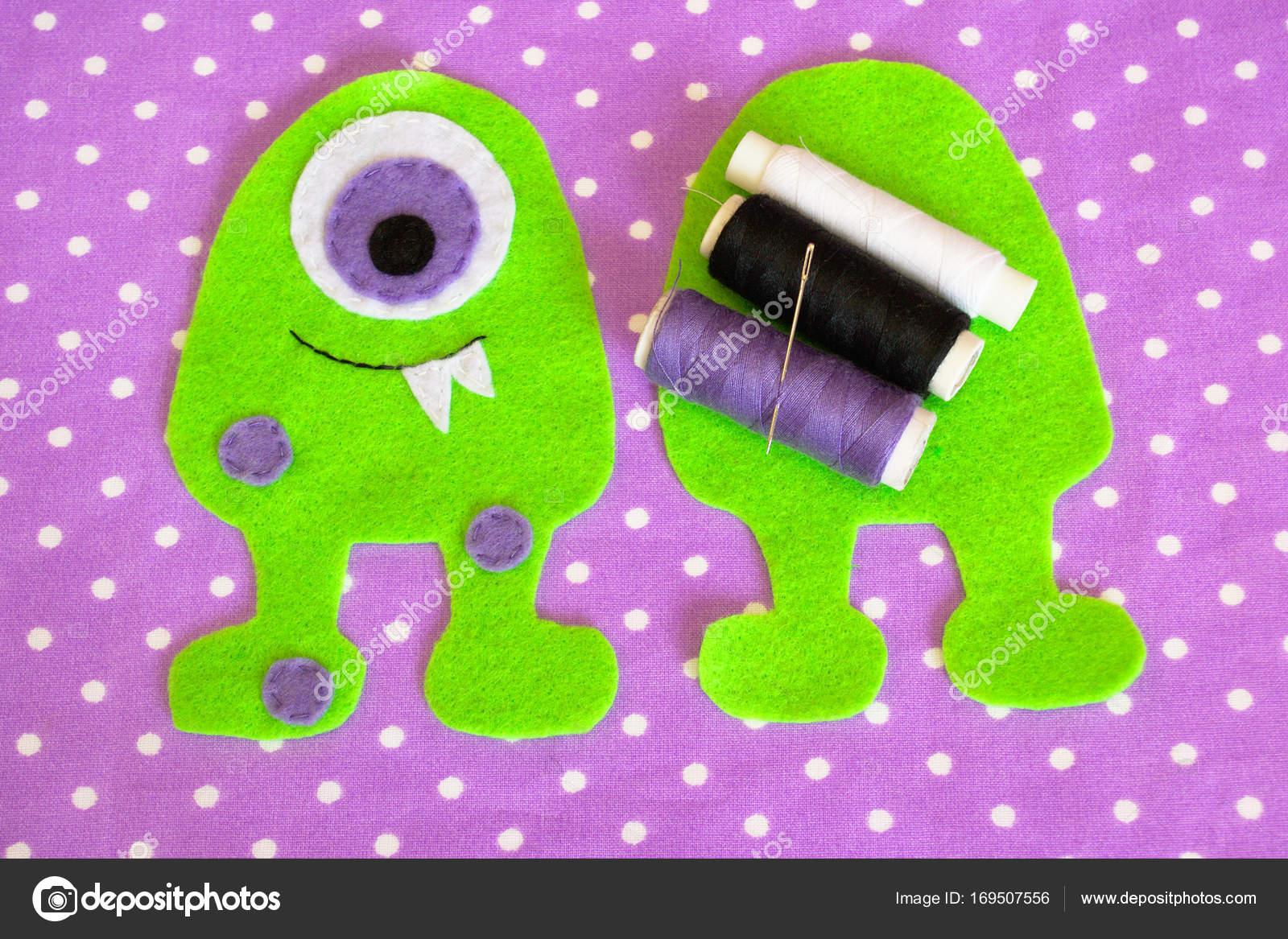 Nähen-Set für Filz Monster - wie erstelle ich eine Monster ...