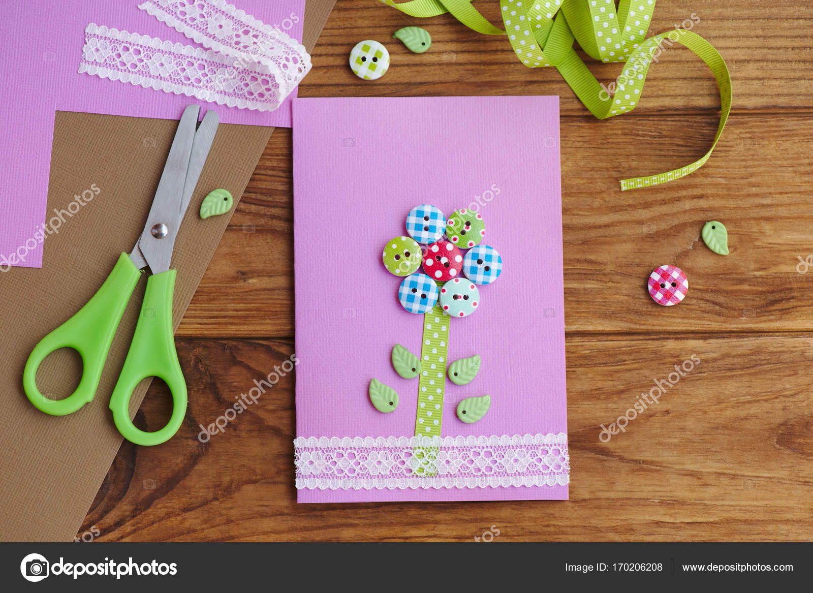 Greeting Paper Card For Moms Birthday Or Mothers Day Fathers Kids Workplace Crafts Idea Easy Art And Craft With