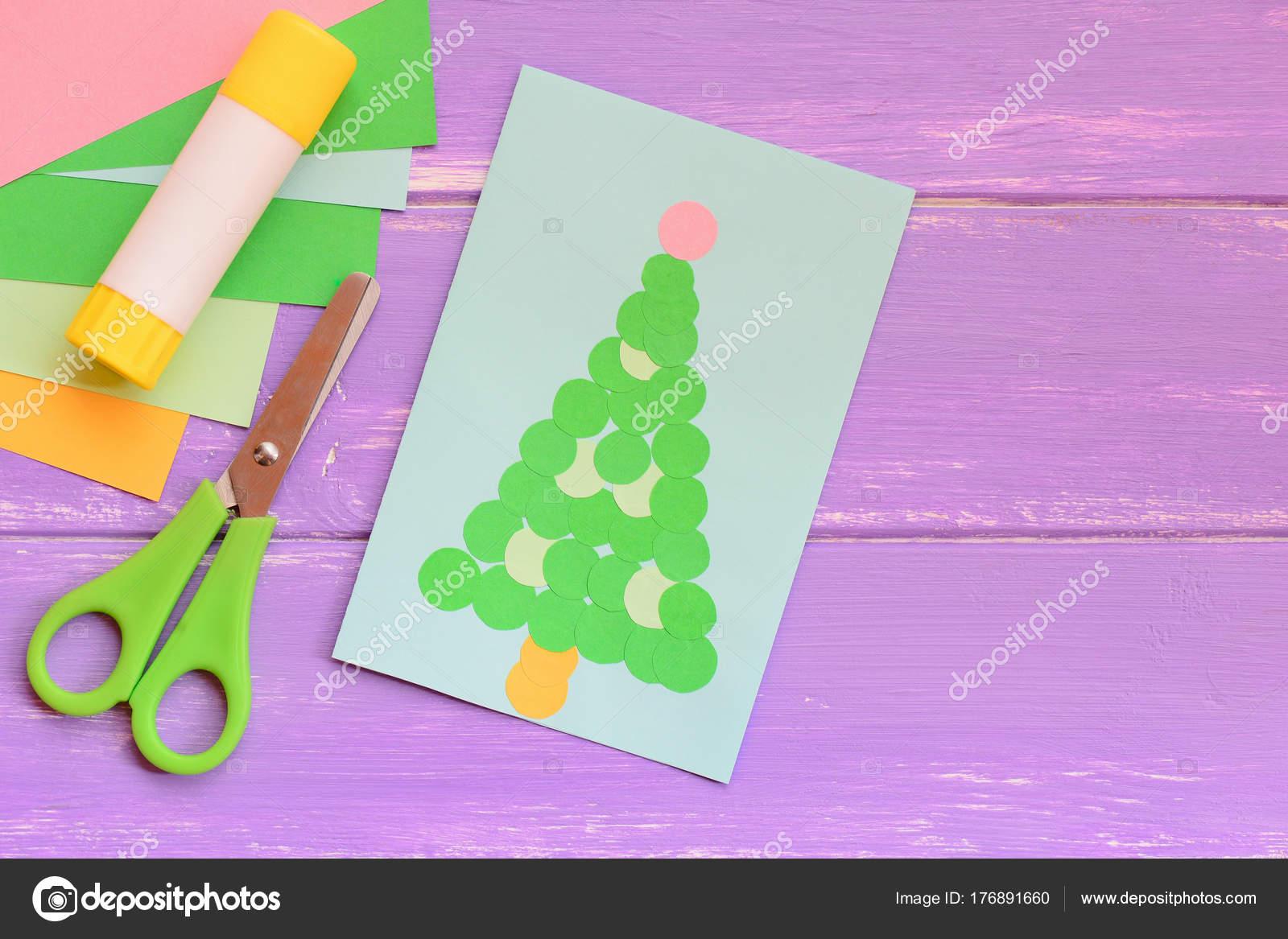 Papel Tarjetas Felicitación Navidad Set Hojas Papel Colores Tijeras ...