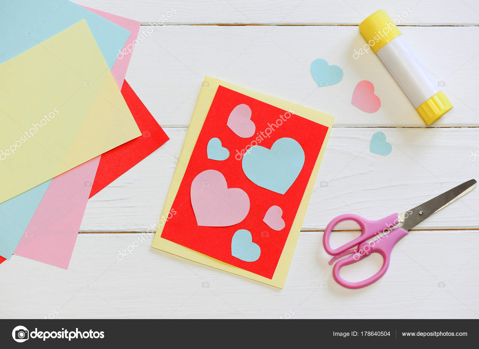 Creative Ideas For Making Greeting Cards Part - 28: Creative Idea Make Greeting Card Simple Greeting Card Design U2014 Stock Photo