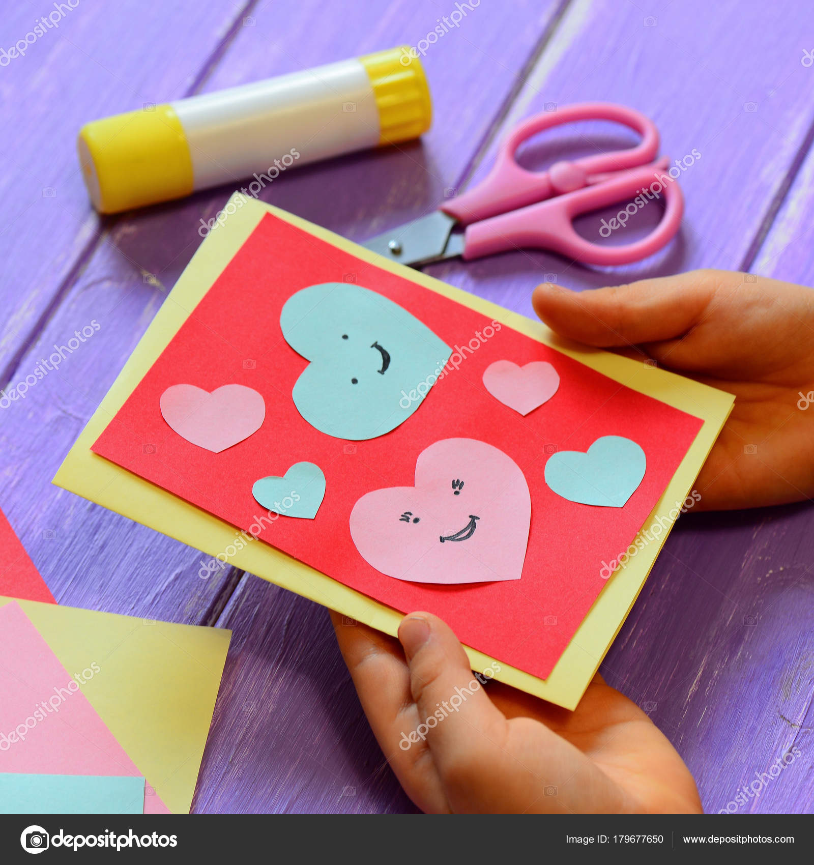 Card Folding Techniques For Card Making Child Holding