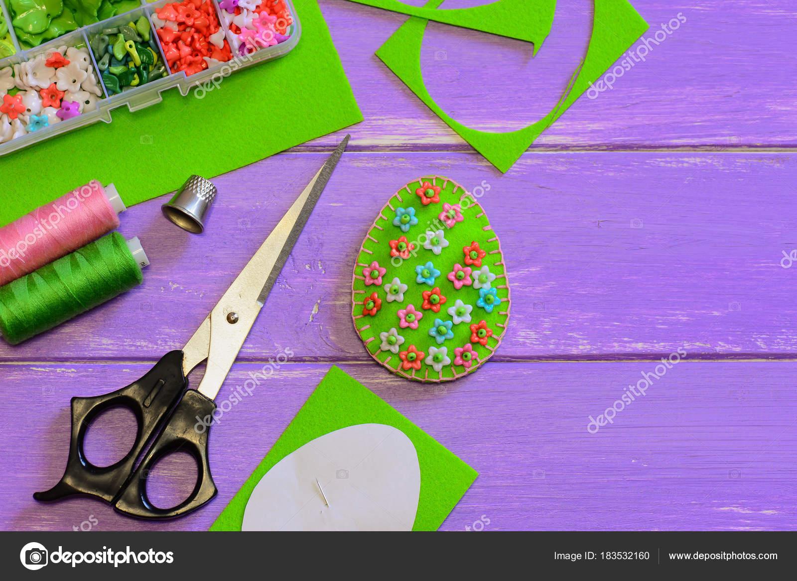 Osterei Dekor Mit Blumen Muster Dekor Schere Papier Vorlage