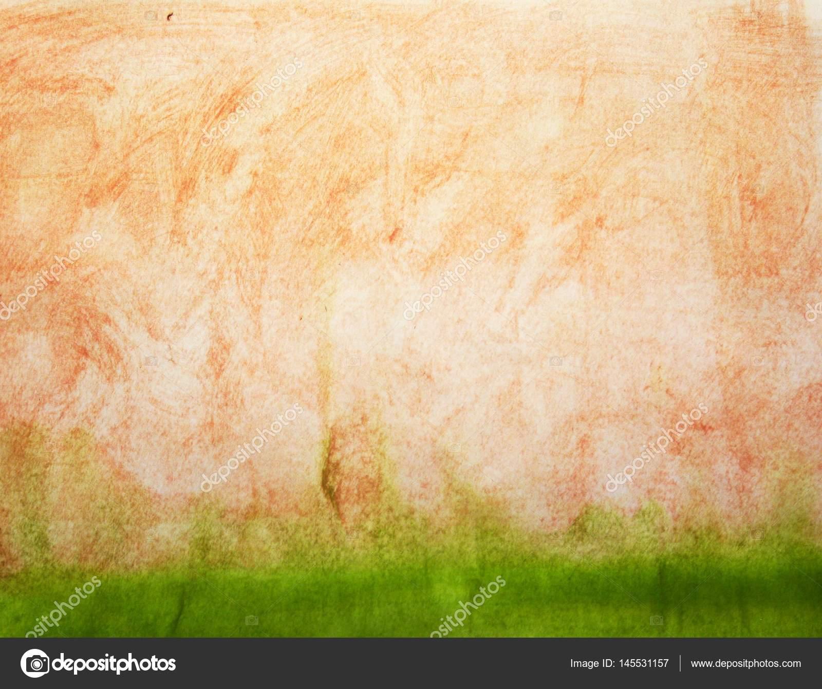 Aquarell Orange Beige Und Grün Einfachen Hintergrund U2014 Foto Von Sangriana
