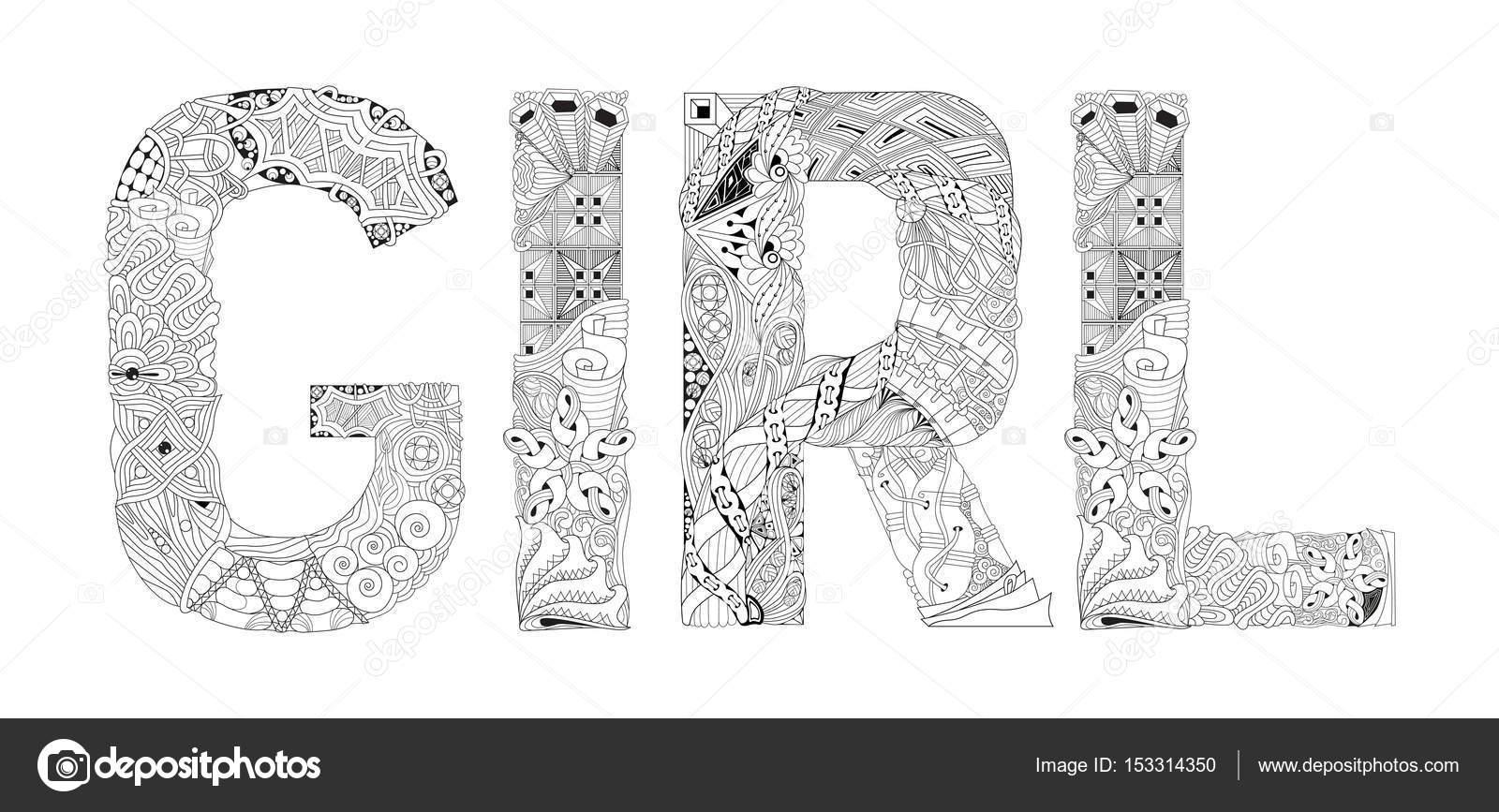 wordgirl coloring pages | Palabra de chica para colorear. Objeto de zentangle ...