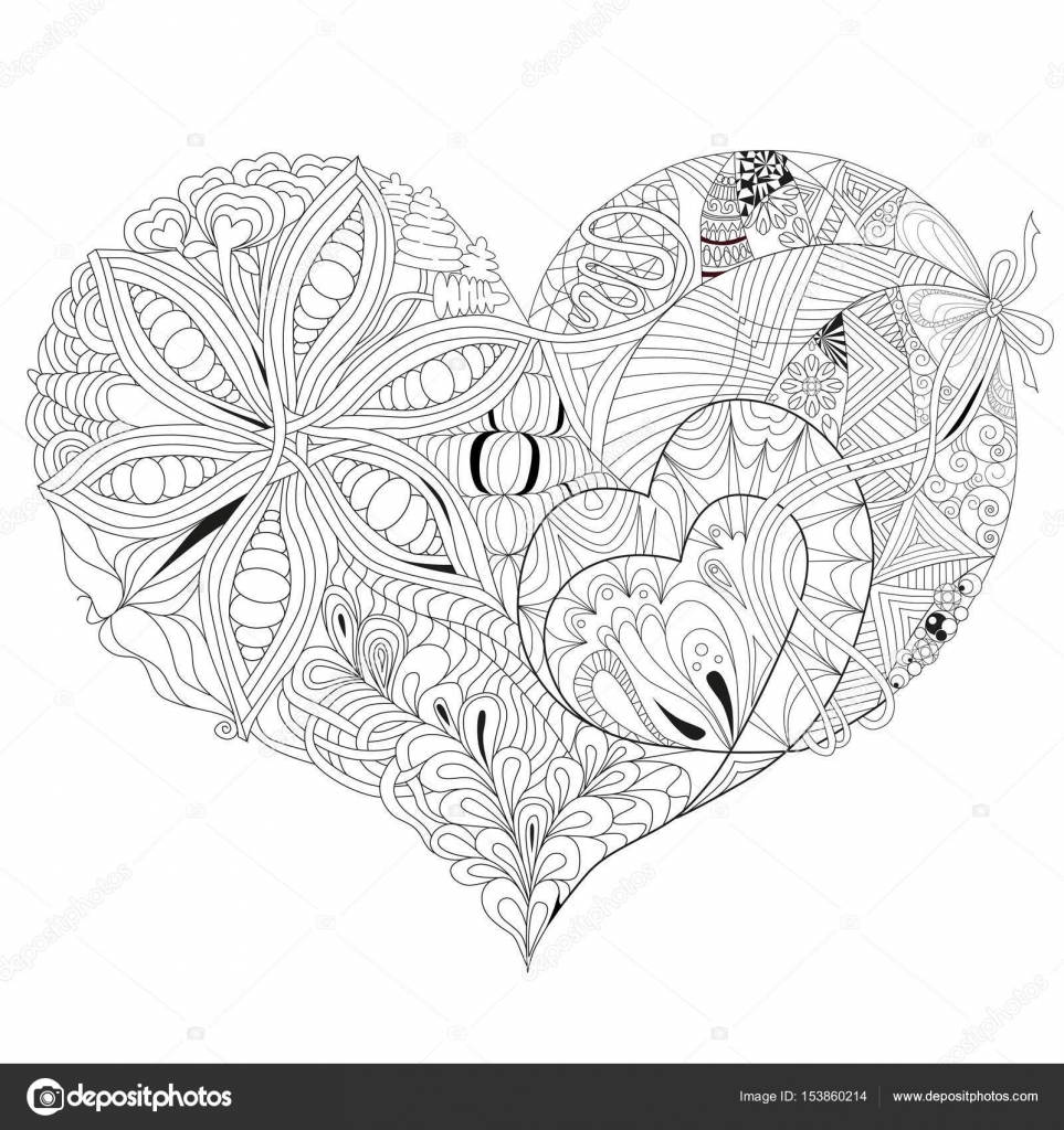 Skizzenhafte Doodle Herz Illustration — Stockvektor © kseniaksenia2 ...