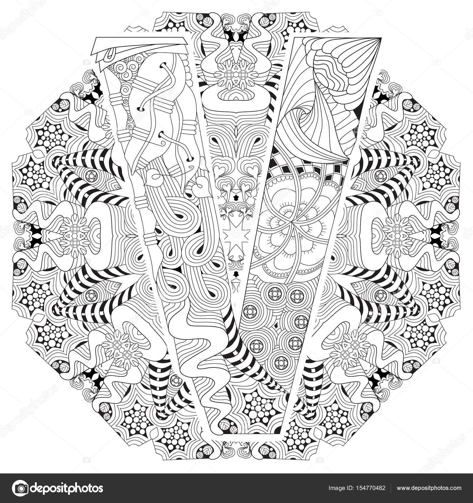 Fotos Letra V Mandala Mandala Con La Letra V Para
