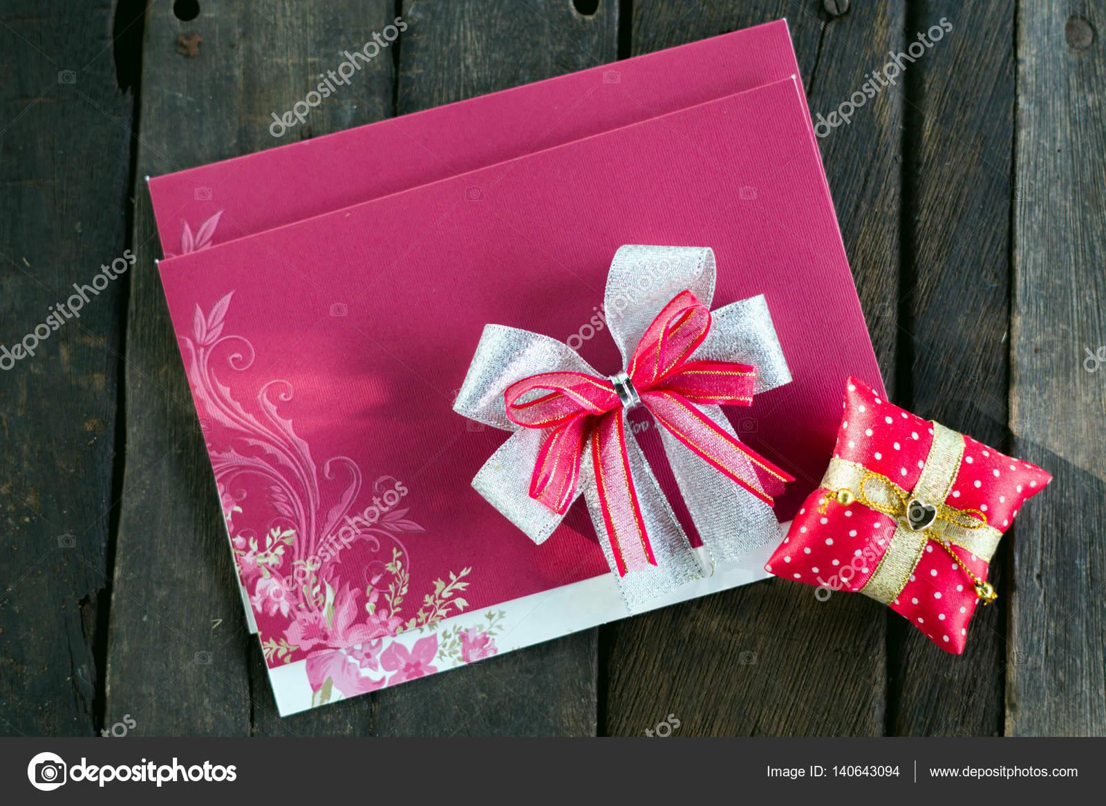Bruiloft Uitnodiging Kaart Vervaardigen Van Karton Liggend