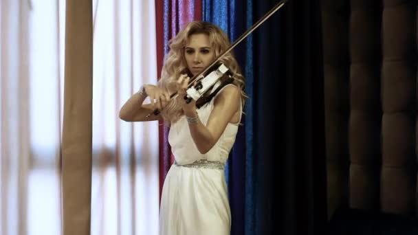 A Female Musician Playing A Violin
