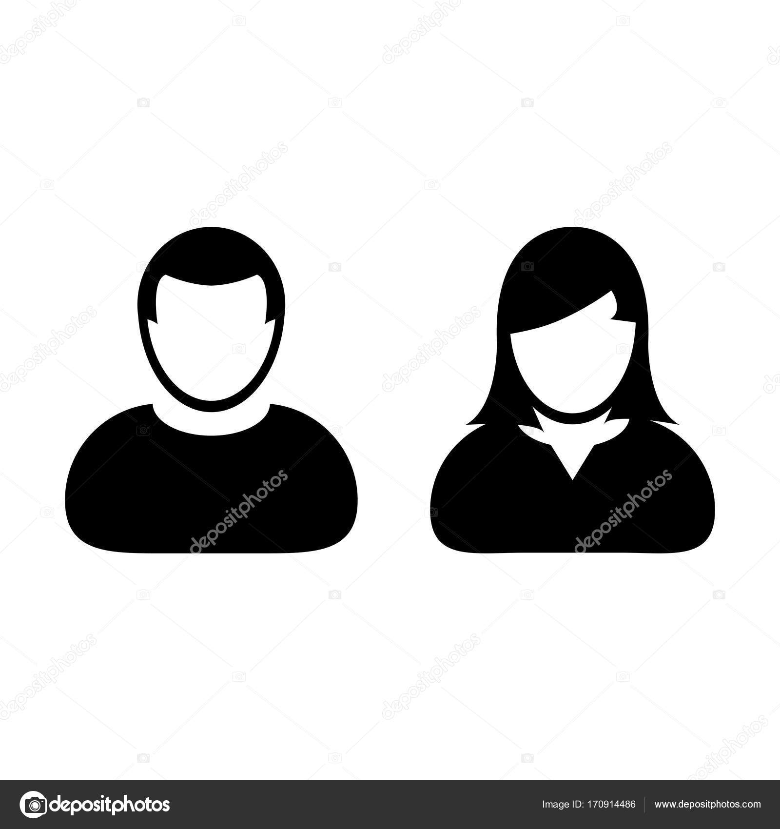People Icon Vector Male Female Sign Of User Person Profile Avatar