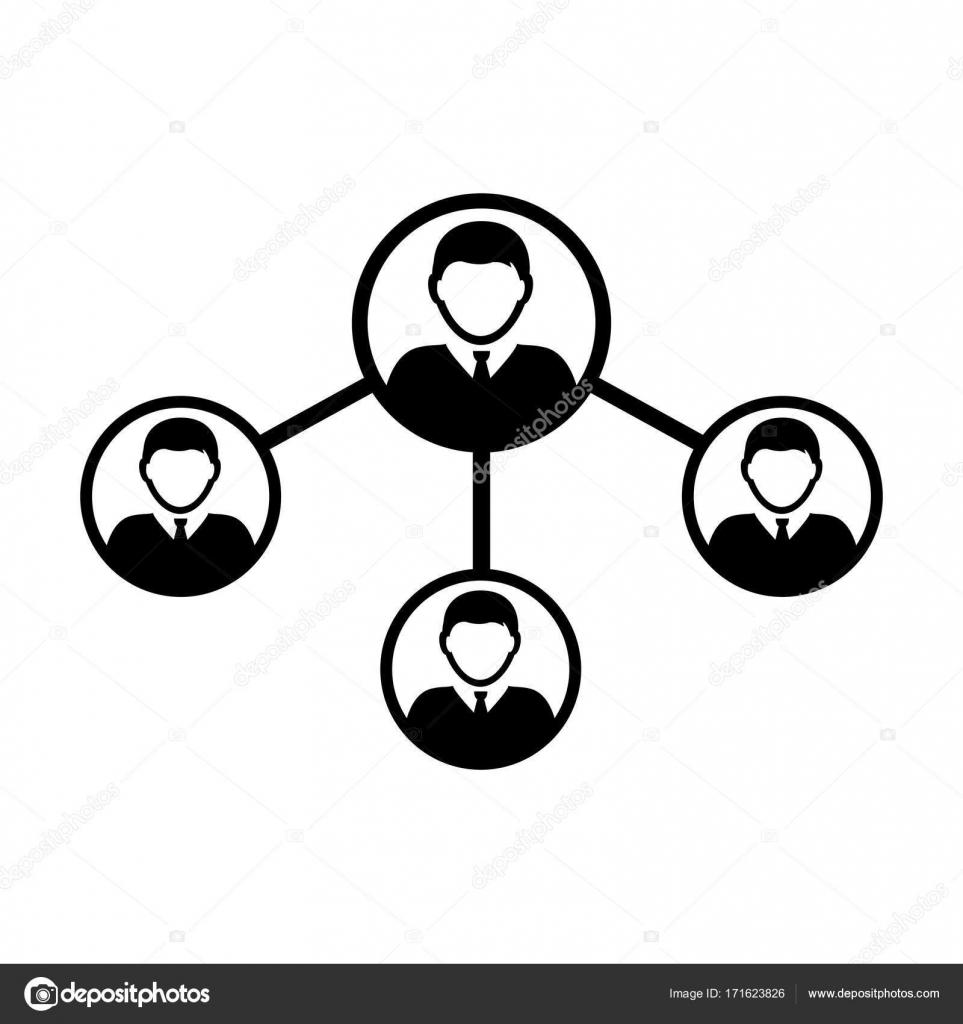 Menschen Netzwerk soziale Verbindung Symbol Vektor mit männlichen ...
