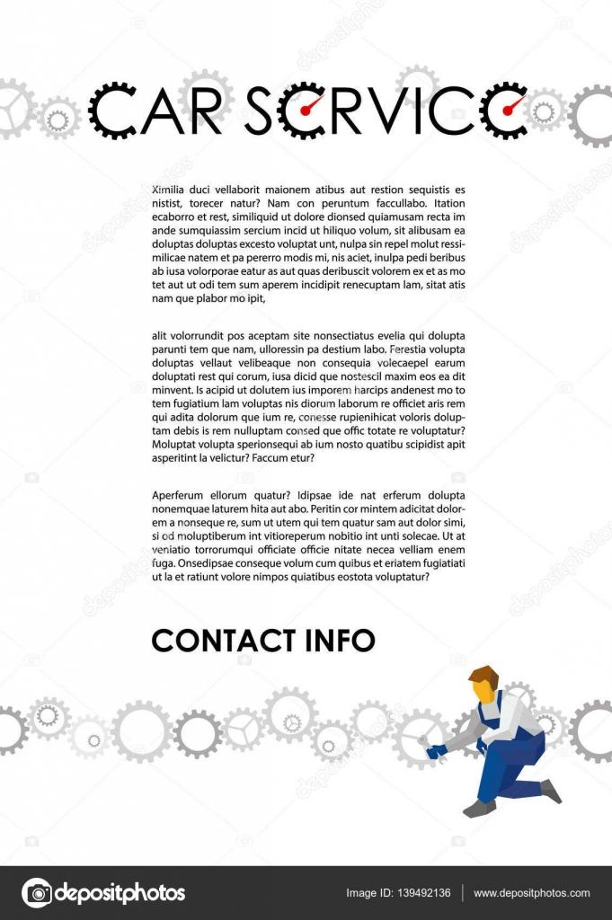 Plantilla de vector de cartel para autoservice — Archivo Imágenes ...