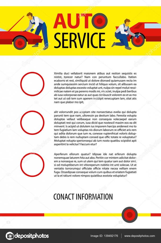 Plakat-Vektor-Vorlage für Autoservice oder Auto Reparatur ...
