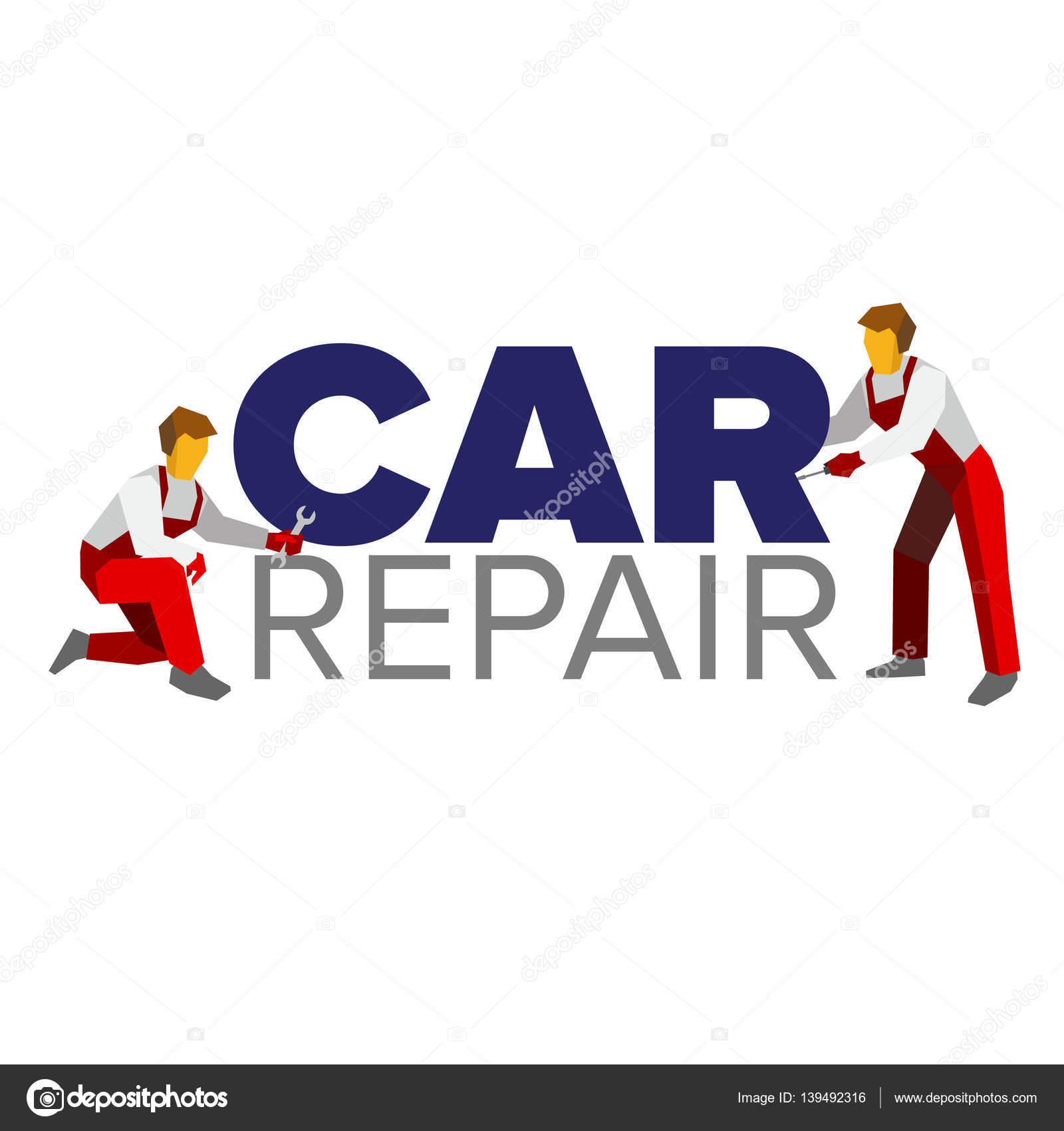 Plantilla de Vector logo para autoservicio o coche reparación ...