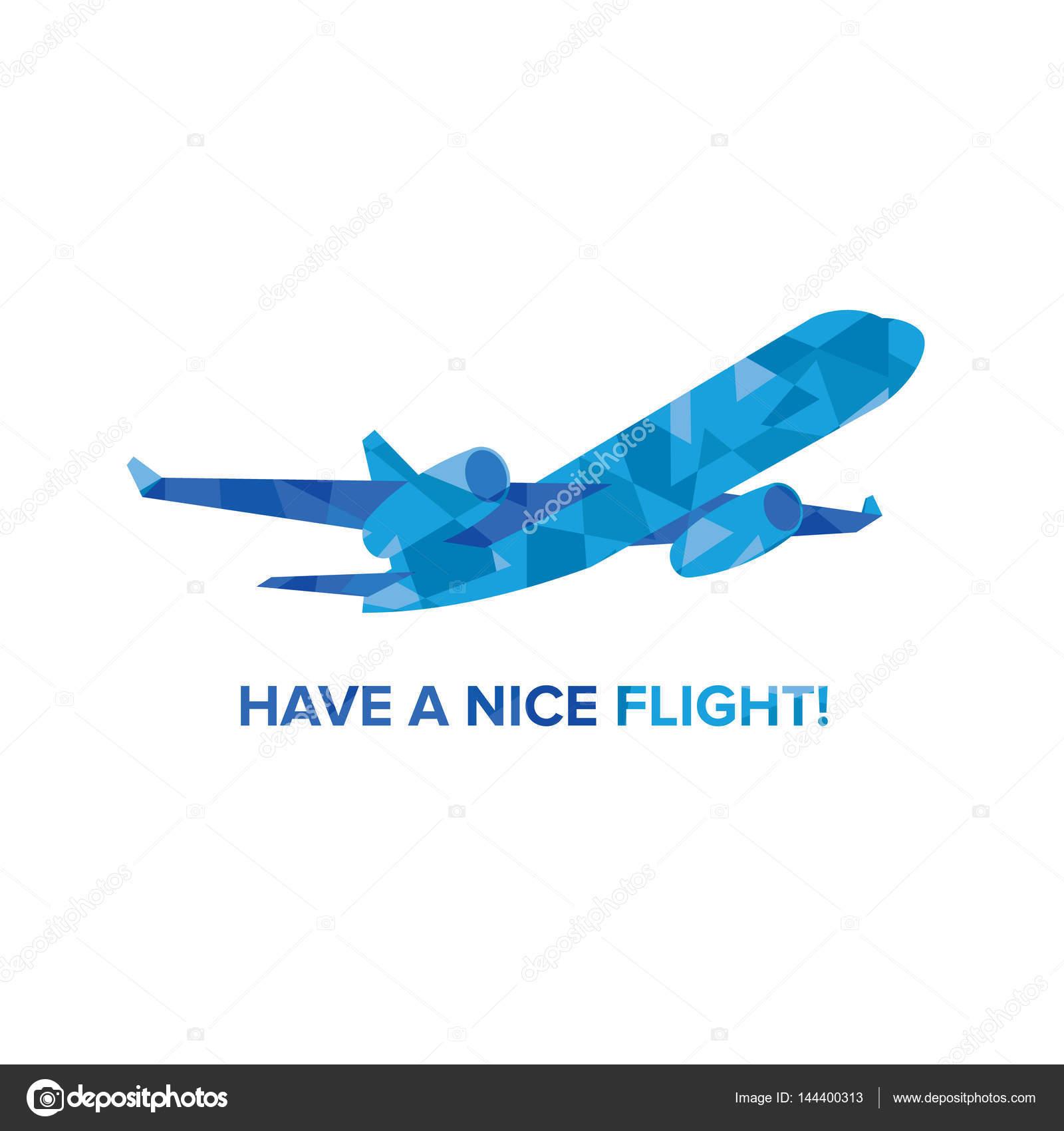 Avión de jet Blue con patrones aislados en blanco — Vector de stock ...