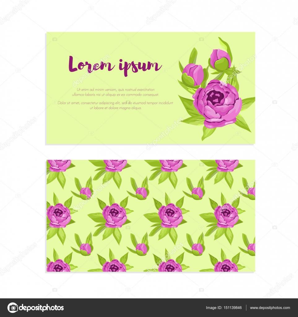 Lila Vintage Blumen Im Rahmen Mit Zeichen Und Muster Fur