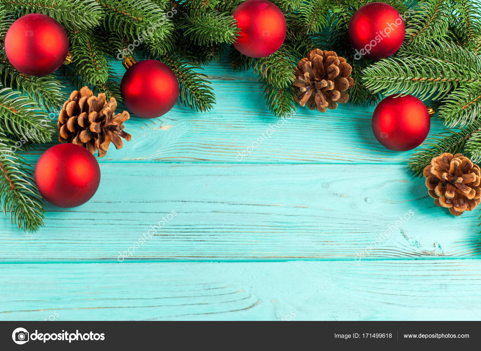 Christmas Banner With Green Tree Red And White Handmade Felt Decorations On White Wooden Textured Background Stock Photo Image By C Rojdesign 171499618