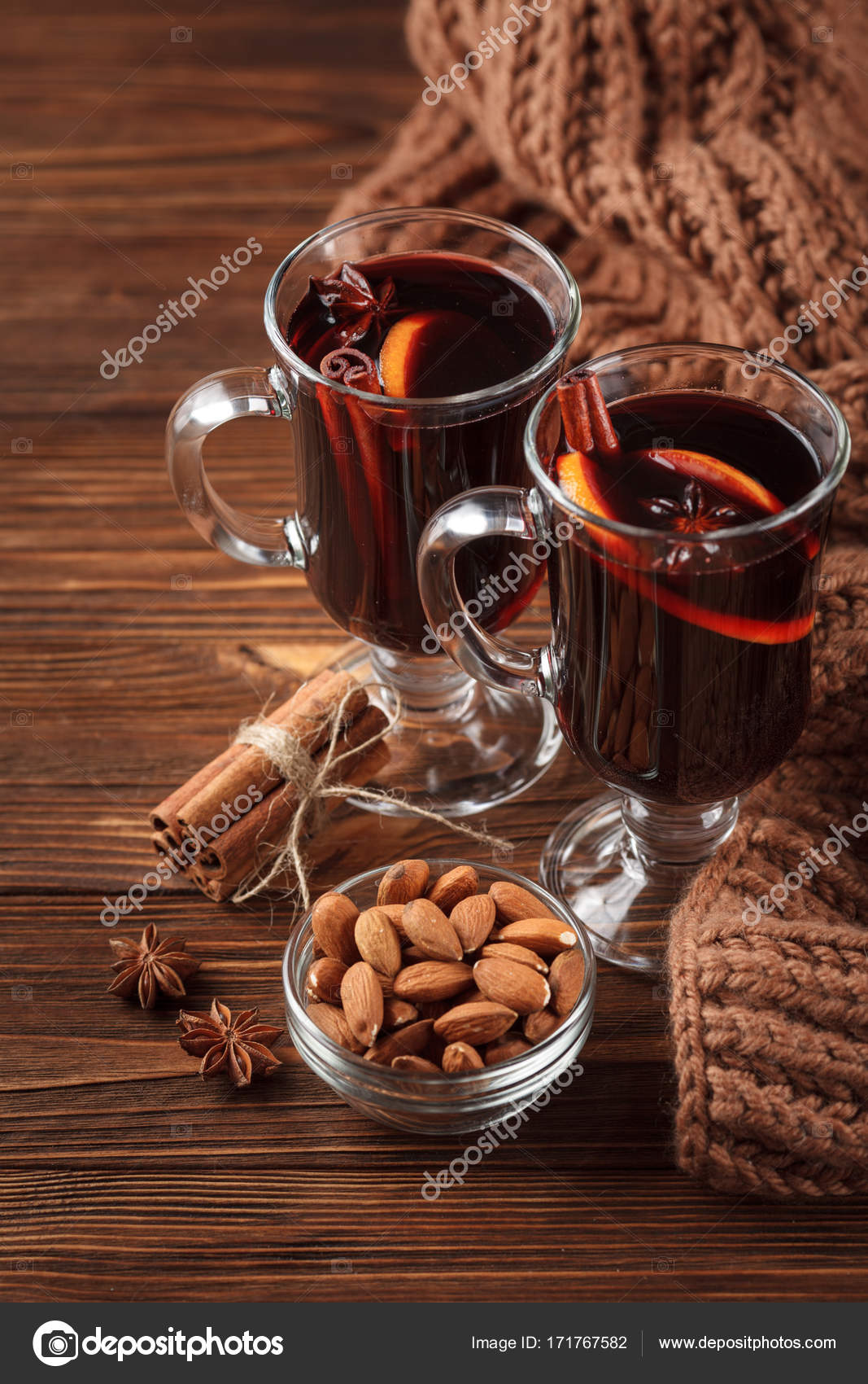 Winter Horizontal Mulled Wine Banner Glasses With Hot Red Wine And Spices On Wooden Background Stock Photo C Rojdesign 171767582